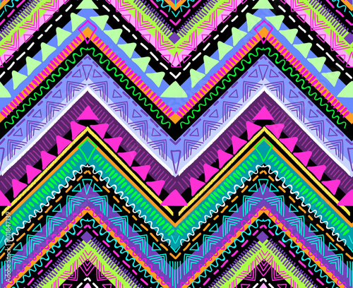 Tribal Aztec print ~ seamless background - 101847139