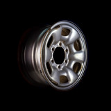 Car wheel, Car alloy rim on black background.