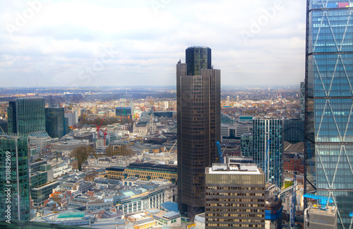 LONDON, UK - APRIL 22, 2015: City of London business and banking aria