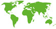 green world map - simple vector