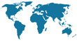 blue/black world map