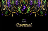 Fototapety Happy carnival design background decoration