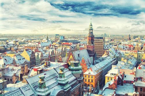 mata magnetyczna Poland. View of Wroclaw