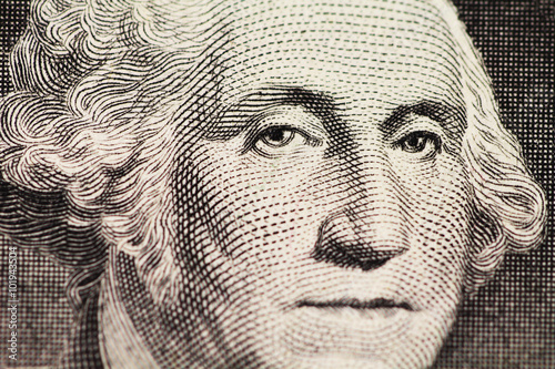 Washington's portrait on dollar Poster