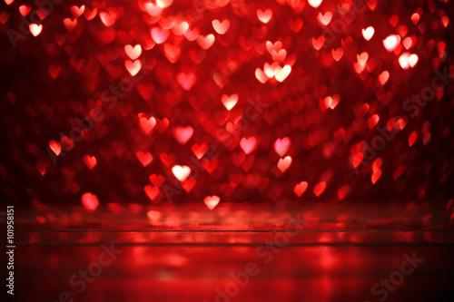 Tło czerwone serca