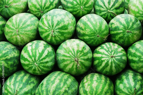 stacking watermelons background - 101960957