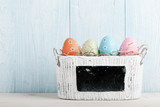 Fototapety Painted Easter eggs