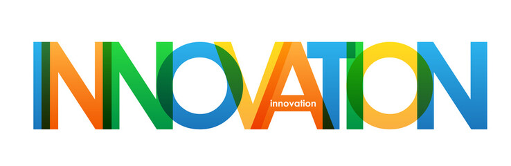 INNOVATION Overlapping Bright Vector Letters © Web Buttons Inc
