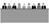 Jury av olika etnicitet och kön