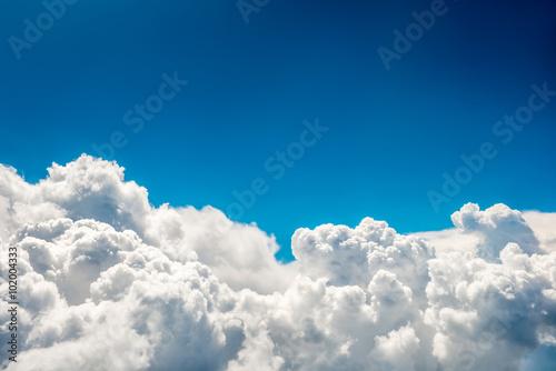 Fototapeta Blue clouds and sky