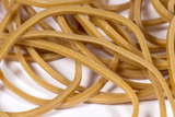 Close-up view of natural rubber bands