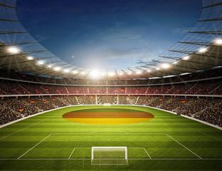 Fototapeta stadion piłkarski Niemiecka flaga