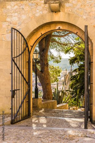 Fototapeta Old metal gate open