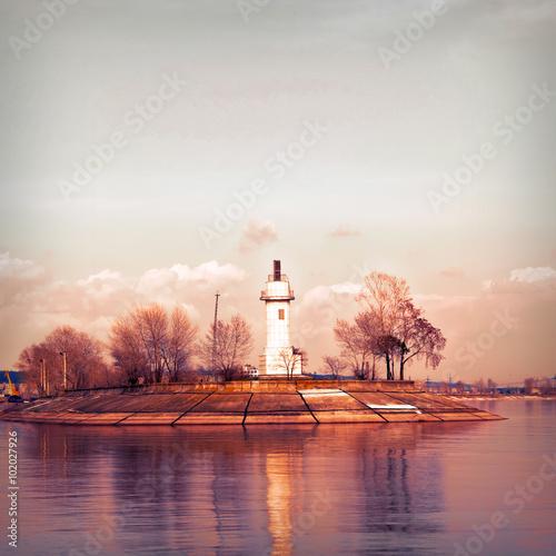 Fototapeta Volzhsky lighthouse.