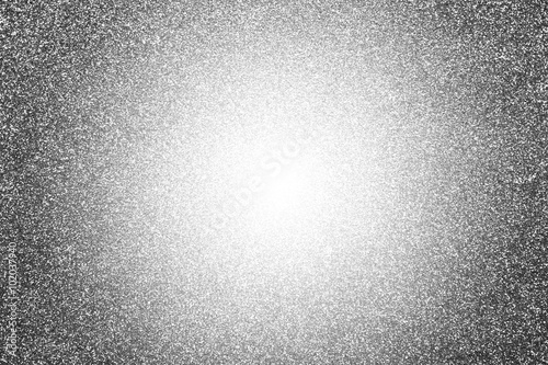 Flar lighting effect with silver glitter background Poster