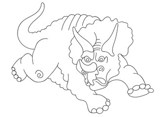 Illustration of a dinosaur triceraptos