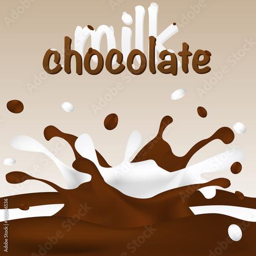 Fototapeta milk-chocolate