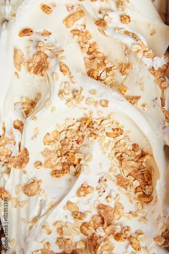 texture gelato artigianale in gelateria