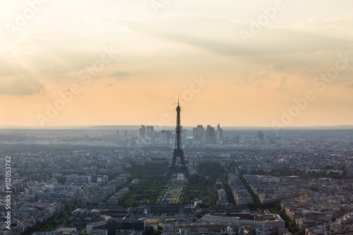 Sunset Eiffle Tower. Paris. France Poster