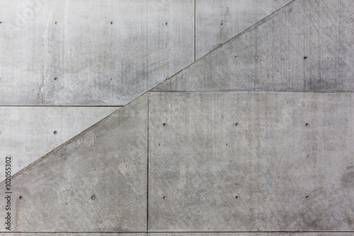 fototapeta na ścianę Diagonale im Sichtbeton