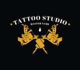Design of a logo with a tattoo machines