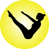 Pilates position (boat) silhouette vector, silhouette in posizione pilates (barca) vettoriale
