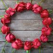 Obrazy na płótnie, fototapety, zdjęcia, fotoobrazy drukowane :  Circle of rose for valentine' s day, anniversary and congratulations