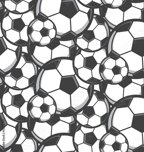 Cotton fabric football seamless pattern