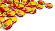 Obrazy na płótnie, fototapety, zdjęcia, fotoobrazy drukowane : Spain Flag Button Badges