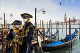 Couple in carnival mask in Venice.