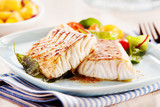 Fototapety Delicious fillets of pollock or coalfish