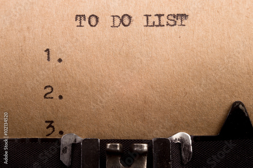 To do list typed on the typewriter Poster