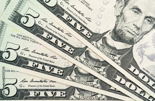 Poster Fünf-Dollar-Scheine