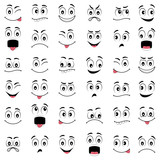 Cartoon faces with different emotions - 102160912