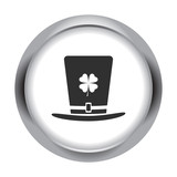 Leprechaun hat simple icon on colorful background