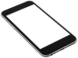 Black smartphones with blank screen, isolated on white background - high detailed realistic illustration. - 102173579