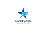 Corporate Blue Star flame Logo abstract design vector - 102181378