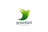Flying Bird Logo design abstract vector. Dove Logotype - 102181394