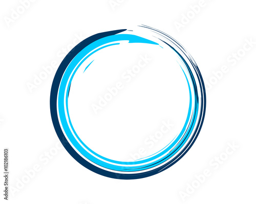 Enso Zen Symbol Blue