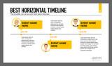 Horizontal Timeline Slide
