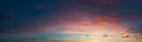 sunset sky panorama