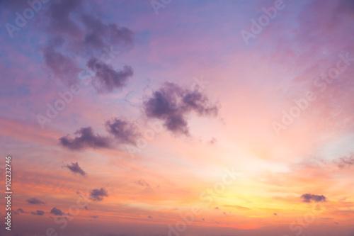 Gentle Colors of Sunrise Sky