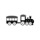 Train in amusement park icon  - 102241556