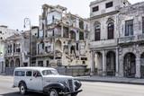 Zerfallene Häuser im Zentrum von Havanna