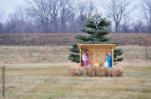 Poster Nativity Scene