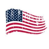 Fototapety American grunge flag.
