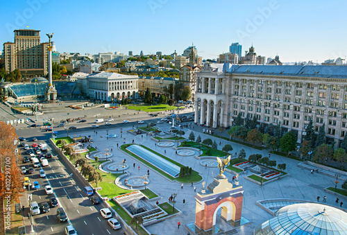 Kiev city center, Ukraine