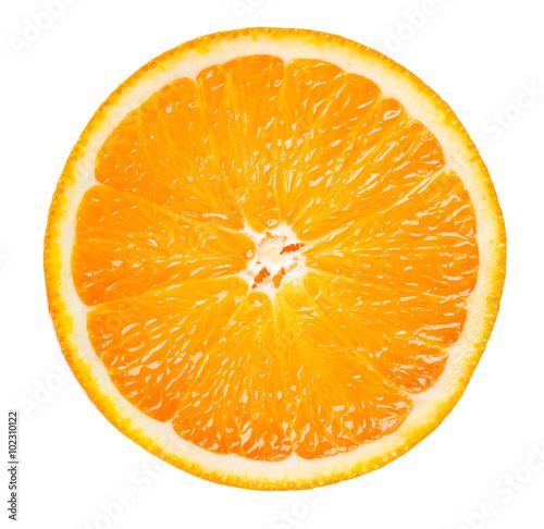Fototapeta orange slice isolated on white background