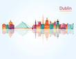 Dublin detailed skylines. vector illustration - 102315553