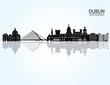 Dublin skyline detailed silhouette. Vector illustration - 102316719